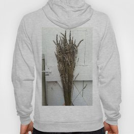 Dried lavender on the fence Hoody