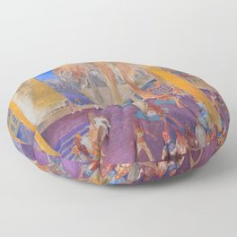 New College Palm Court Party Floor Pillow