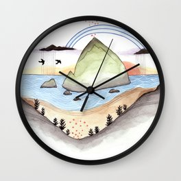 Haystack Rock Wall Clock