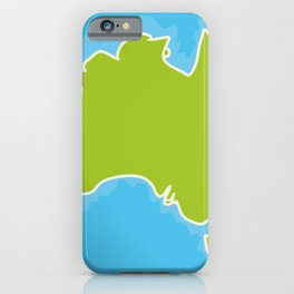 map of Australia Continent and blue Indian Ocean. Vector illustration iPhone Case