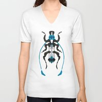 insect V-neck T-shirts featuring Inkblot Insect by Lil'h