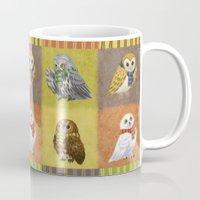 hogwarts Mugs featuring Hogwarts Owls by Katie O'Meara