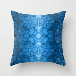 Fractal Fiori Throw Pillow