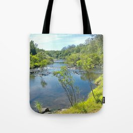 Magnificent tranquil river Tote Bag