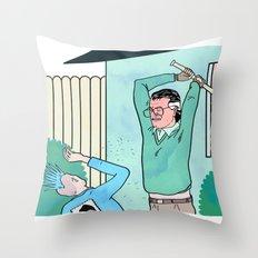 WHITE NOISE Throw Pillow