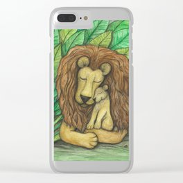 Lion and Cub Clear iPhone Case