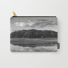 Annisquam river reflections Black and White Carry-All Pouch