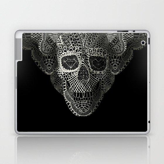 Lace Skull Laptop & iPad Skin