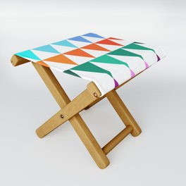 Triangles of Color Folding Stool
