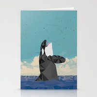 killer whale Stationery Cards featuring Killer Whale II by Jacek Muda
