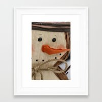 snowman Framed Art Prints featuring Snowman  by IowaShots