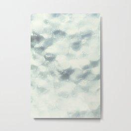 White Foam Plastic Texture Metal Print