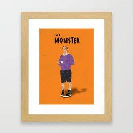 Arrested Development - Buster Bluth I'm A Monster Framed Art Print