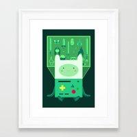 beemo Framed Art Prints featuring Make Believe by badOdds