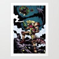 samus Art Prints featuring Samus by ADobson