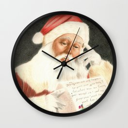 Letter to Santa Claus Wall Clock