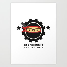 Programmer - Ninja Programmer Art Print