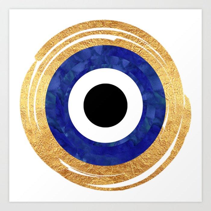 Modern Evil Eye Medallion Kunstdrucke