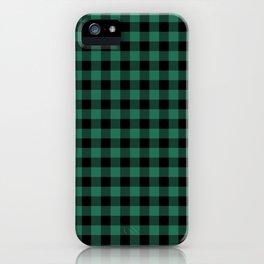 Green Tartan iPhone Case