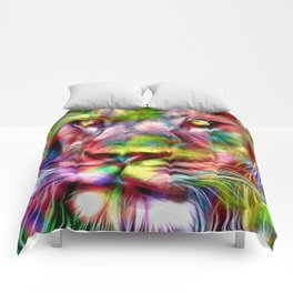 Lion in Color Comforters