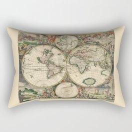 Ancient Map of the World 1689 Rectangular Pillow