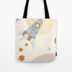 spaceship collage Tote Bag