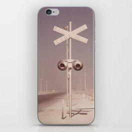 White dust on railroad crossing iPhone Skin