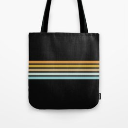 Retro Sunshine Stripes Tote Bag