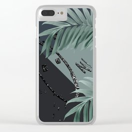 Night Palms Cali Vibes Abstract Glitter Glam #1 #tropical #decor #art #society6 Clear iPhone Case