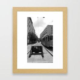 Budapest's Trams Framed Art Print
