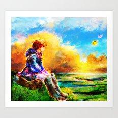 Nausicaa of the Valley of the Wind Art Print
