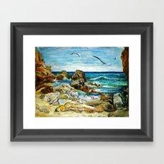 CRAYON LOVE - Costa Brava Framed Art Print