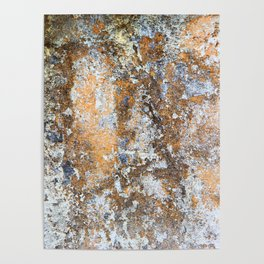 Painted Stone Textures 80 Poster