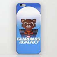 rocket raccoon iPhone & iPod Skins featuring Guardians of the Galaxy - Rocket Raccoon by Casa del Kables