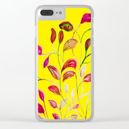 Red and Green Leaves! Yellow Sunshine! Clear iPhone Case