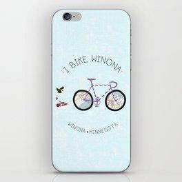 Winona, Minnesota I Bike My City by Jodene Warden iPhone Skin