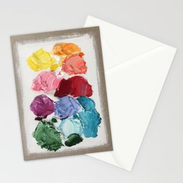 Deconstructed Polka Daubs Stationery Cards