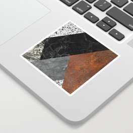 Marble, Granite, Rusted Iron Abstract Sticker
