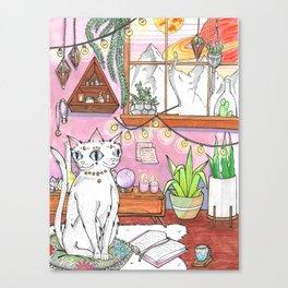 Gemini cat Canvas Print