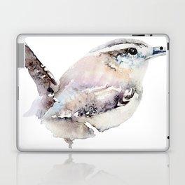 Watercolor Wren Painting Laptop & iPad Skin
