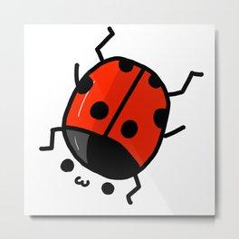 Ladybug Bby | Veronica Nagorny Metal Print