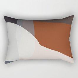 Navy & Rust VIII Abstract Rectangular Pillow