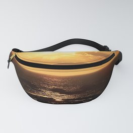 Silver lining on Clouds at Sunset Fanny Pack