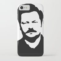 swanson iPhone & iPod Cases featuring Ron Swanson by Bjarni Bragason