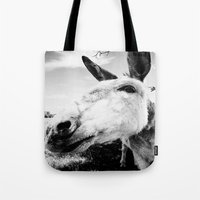donkey Tote Bags featuring Donkey by Irislynn