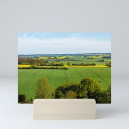 Fields of Green and Gold in Southern Sweden Mini Art Print