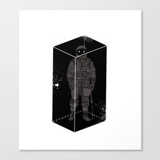 Astronaut in a box Canvas Print