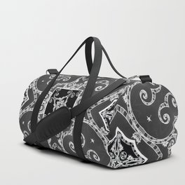 Victorian Candy Cane Wallpaper #1 Duffle Bag