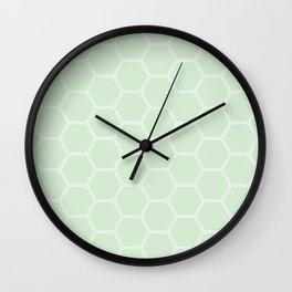 Honeycomb Light Green #273 Wall Clock