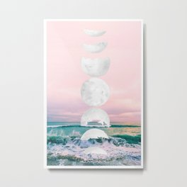 The Moon and the Tides Metal Print